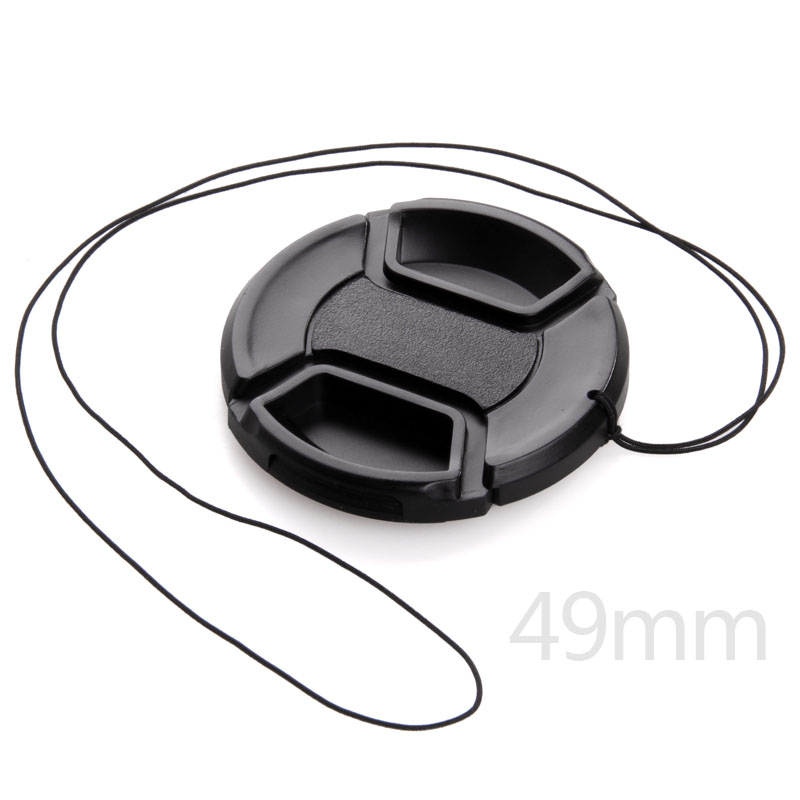 Camera Lens Cap 49mm Filter Lens Cover Fits for Canon EF 50mm F1.8 STM Lens & for Sony E-mount 18-55mm Lens image
