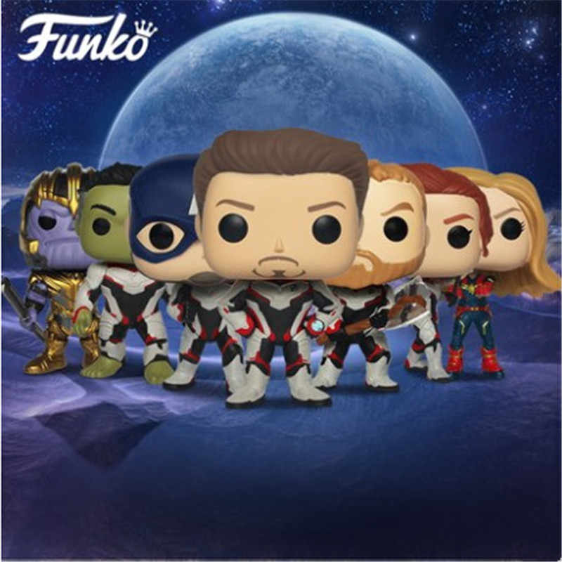 Funko POP Official Avengers4 Endgame Movie Model Vinyl Doll Collection #449 Iron Man #453 Thanos Birthday Gift Action Figure Toy