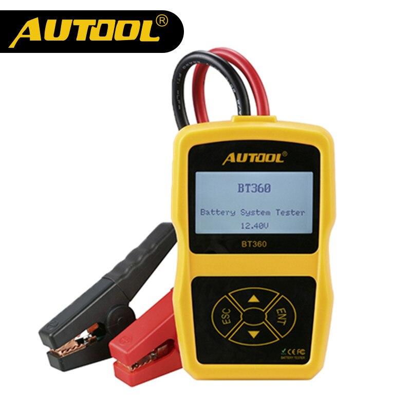 Original autool bt360 probador de la batería del coche 12 V digital Analyzer 2000cca 220ah multi-idiomas Bad cell test coche Herramientas alta calidad