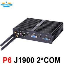 Quad core Mini PC with DDR3 RAM and mSATA SSD 1 LAN, 5 USB, 2 COM, fanless Mini PC bay trail j1900