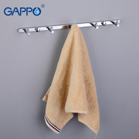 GAPPO 1 Set High Quality 5 Hooks Bathroom Accessories Wall Mount Clothes Zircalloy Tower Hooks Bathroom