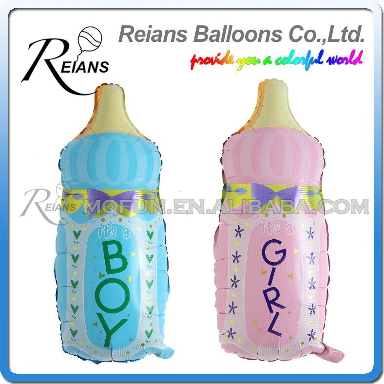 REIANS 82cm boy & girl baby feeding bottles foil balloons kids birthday gifts party decoration balloon supplies