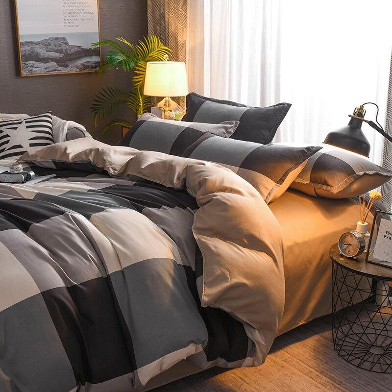 Bedding Set Luxury The Red Crane 3/4pcs Family Set Sheet Duvet Cover Pillowcase Boy Room Flat Sheet, No Filler 2019 Bed Set