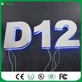 Personalizado números de Casa levou 4 LEVOU Porta de Aço Inoxidável de Parede Número Doorplate