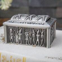 Размеры S Новые ювелирные изделия из Египта бумага коробка под старину Винтаж домашний декор Подарочная коробка для хранения Цепочки и ожерелья, браслет, кольцо коробка металла художественные промыслы, ларец