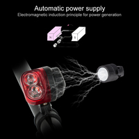Coquimbo Red LED Taillights Night Light For Bicycle Waterproof Automatic Magnet Power Supply Bike Night Light