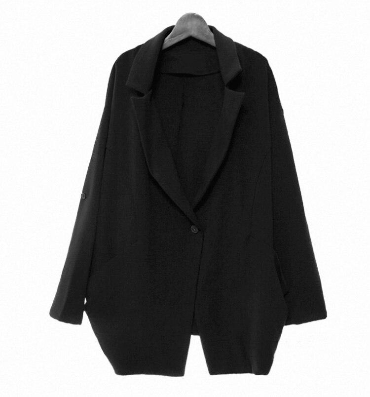 Korean Style Women 's Long - Sleeved Jacket Coat Women' S Casual Autumn Loose Shoulder Jacket