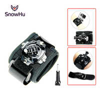 SnowHu for 360 degree Rotation Wrist Strap for Go pro Hero 8 7 6 5 4 for SJCAM for SJ4000 for Xiaomi for Yi 4k accessories GP128