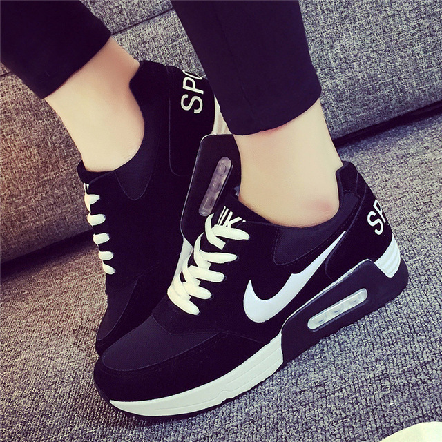 ee3a97aee7e Fashion Women Shoes Basket Femme 2016 Autumn Casual Shoes Women Wedge Shoes  Zapatos Mujer Jogging Flat Shoes Chaussure Femme