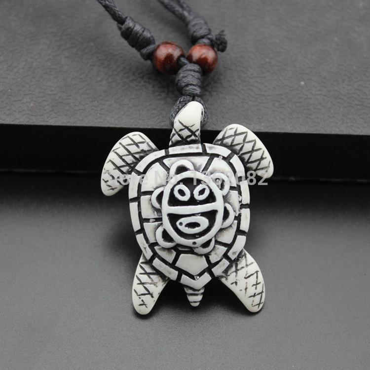 1Pcs Puerto Rico imitation Yak bone carved Coqui Taino Grenouille Collier Pendentif