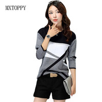 Free Shipping Women Casual O Neck Cashmere Pullover Spring Autumn Winter Women Sweater Plus Size Bottoming