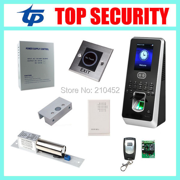 Good quality 400 face biometric facial door access controller with fingerprint reader DIY door security access control system good quality high speed zk f19 biometric fingerprint access control system standalone fingerprint door access controller reader