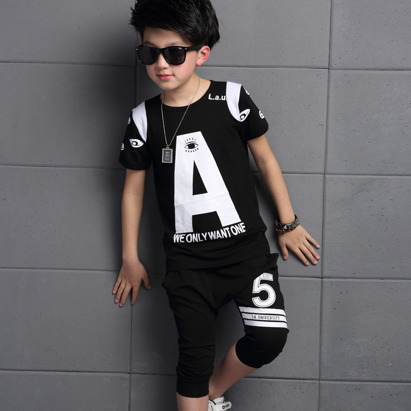 new summer boys clothing set boys t shirts and pants childrens set boys shirts and trous ...
