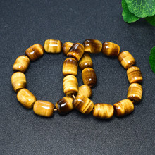 Natural Tiger Eye Stone Bracelet Yellow Pass Bead Wholesale