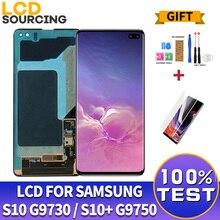 Originale Amoled Per Samsung S10 Display LCD G973 G973F Touch Digitizer Assemblea di Schermo Per Samsung s10 + Più LCD G975 sostituire