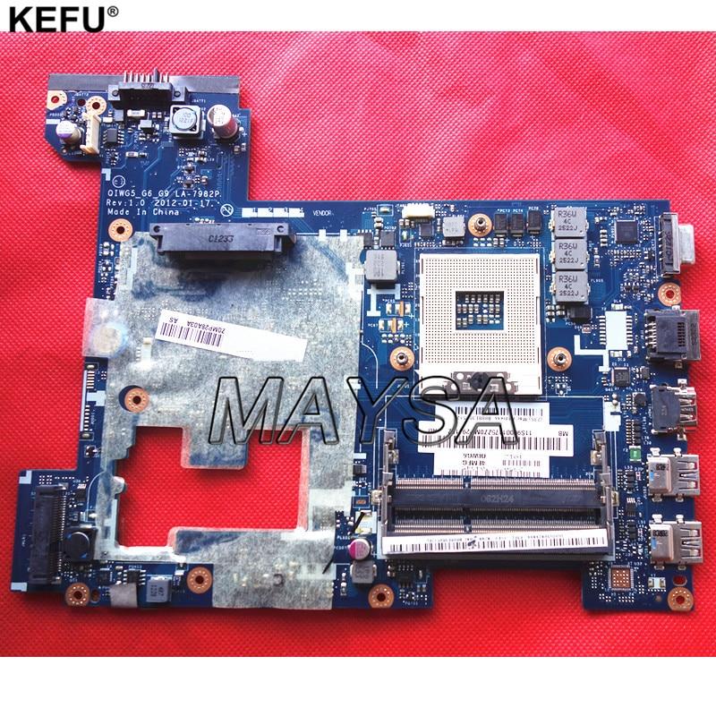 все цены на Original Laptop Motherboard Fit For Lenovo G580 P580 P585l System Board LA-7982P HM76 GMA HD DDR3, 100% working онлайн