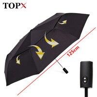 125cm Big Automatic Quality Double Layer Umbrella Rain Women 3Fold Windproof Large Outdoor Umbrella Men Woman