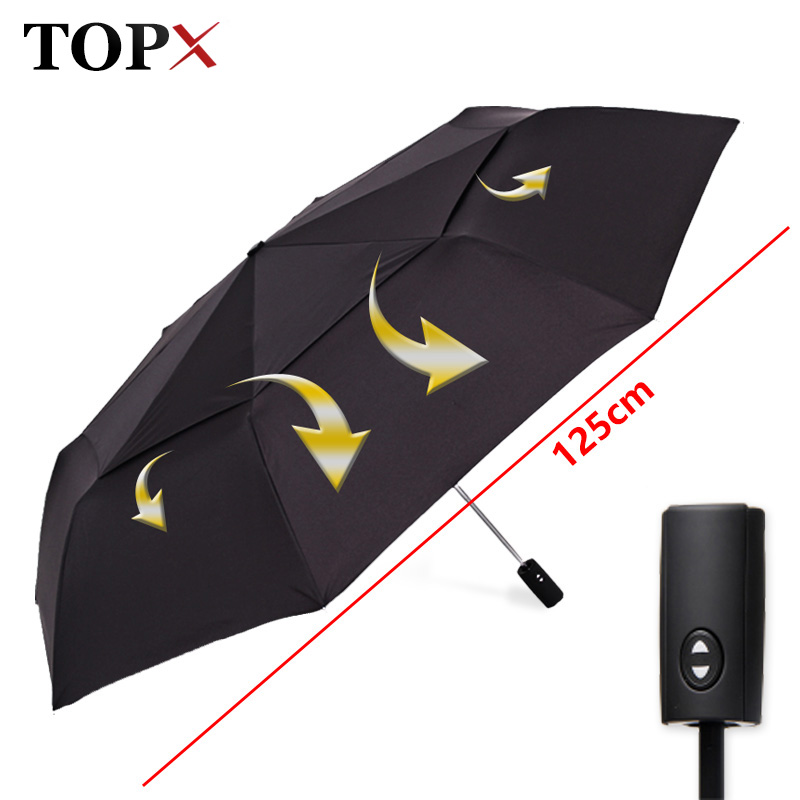 125cm Big Automatic Quality Double Layer Umbrella Rain Women 3Fold Windproof Large Payung Outdoor Male Woman Paraguas Parasol