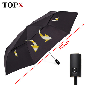 125cm Big Automatic Quality Double Layer Umbrella Rain Women 3Fold Windproof Large Outdoor Umbrella Men Woman Paraguas Parasol