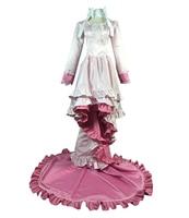Аниме Puella Magi Madoka Magica Kaname Madoka Лолита косплэй костюм Mullet платье