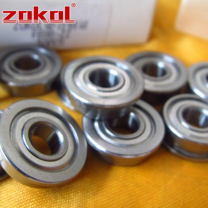 New 10pcs Flange Ball Bearing F698ZZ 8*19*6 mm Metric flanged Bearing