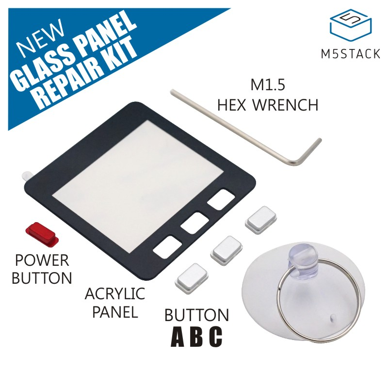 M5Stack Glass Panel Repair Kit External Acrylic Material Screen Replacement