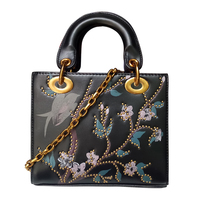 Fashion Bag Female New Female Package Packet Oblique Cross Package Mini Shoulder Bag Printing Rivets Chain