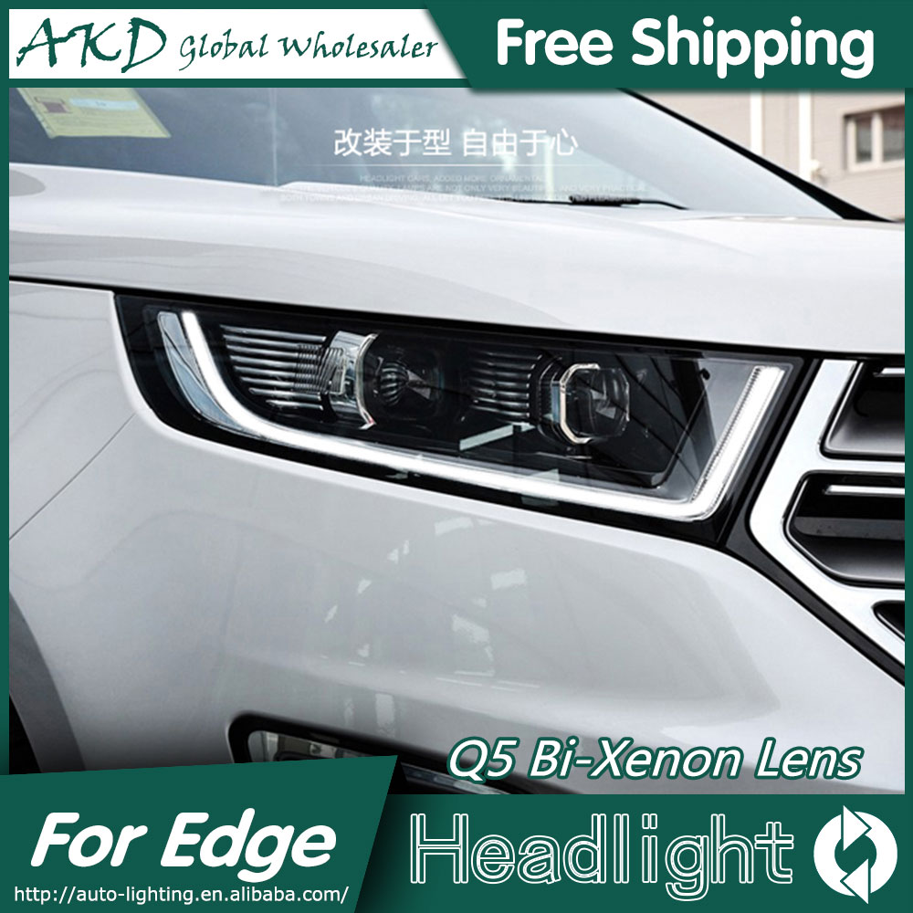 AKD Car Styling for Ford Edge Headlights 2015-2016 New Edge LED Headlight LED DRL Bi Xenon Lens High Low Beam Parking akd car styling for nissan teana led headlights 2008 2012 altima led headlight led drl bi xenon lens high low beam parking