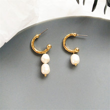 Trendy Elegant Freshwater Pearl  Simulated Long Earrings Pearls String Statement Drop For Wedding Party Gift