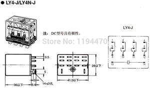 Image 5 - 5 sets LY4NJ HH64P DC 12V 24V 110V 220V AC Coil Power Relay General Purpose Miniature Relays 14 Pins 10A with PTF14A Socket Base