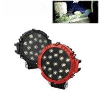 7 Inch 51W Car Round LED Work Light 12V High Power 17 X 3W Spot For