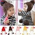 Sombrero caliente del bebé gorras de invierno para niños muchachas de los bebés de invierno sombreros niño ganchillo con orejeras cap