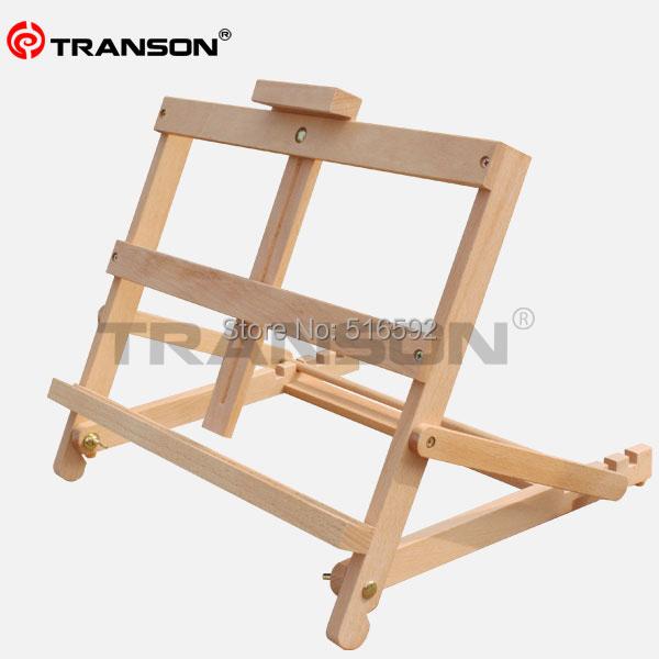 transon artista ajustable de madera de haya mesa caballete para la pintura al leo plegable