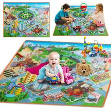Baby Foam Mat Play Mat Kids City Road Carpets Route Map Crawling Pad Baby Toys Rugs Waterproof Foldable Climbing Mats(China)