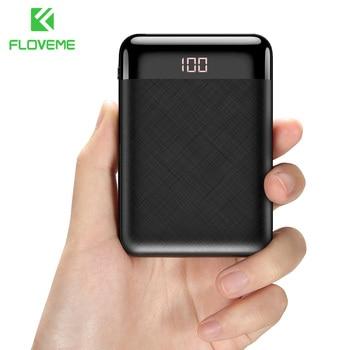 FLOVEME Mini Power Bank 10000mAh For Xiaomi Mi Powerbank Pover Bank Charger Dual Usb Ports External Battery Poverbank Portable 1