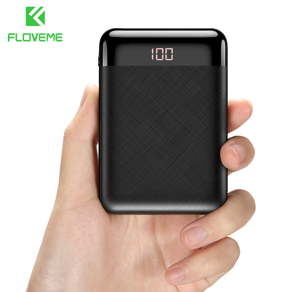 FLOVEME Power Bank 10000mAh Dual USB Mobile Phone External Battery Fast Charger For iPhone Xiaomi Mi Portable Mini PowerBank|Power Bank| |  -