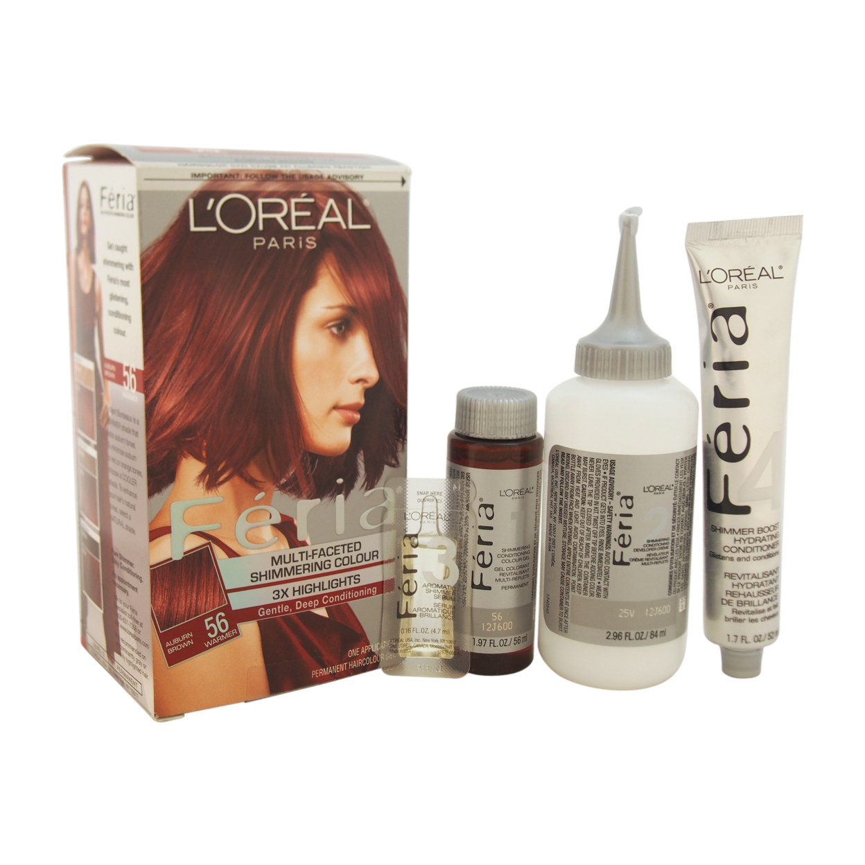 Feria Multi Faceted Shimmering Color 3x Highlights 56 Auburn Brown