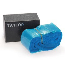 Tattoo Clip Cord Bag Cover Safety Disposable Hygiene Plastic Blue Tattoo Machine Clip Cord Sleeve Cover Bag