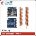 Ultra-low consumption! 2pcs/lot  RF4432 100mW 433MHz FSK Wireless Transceiver Module
