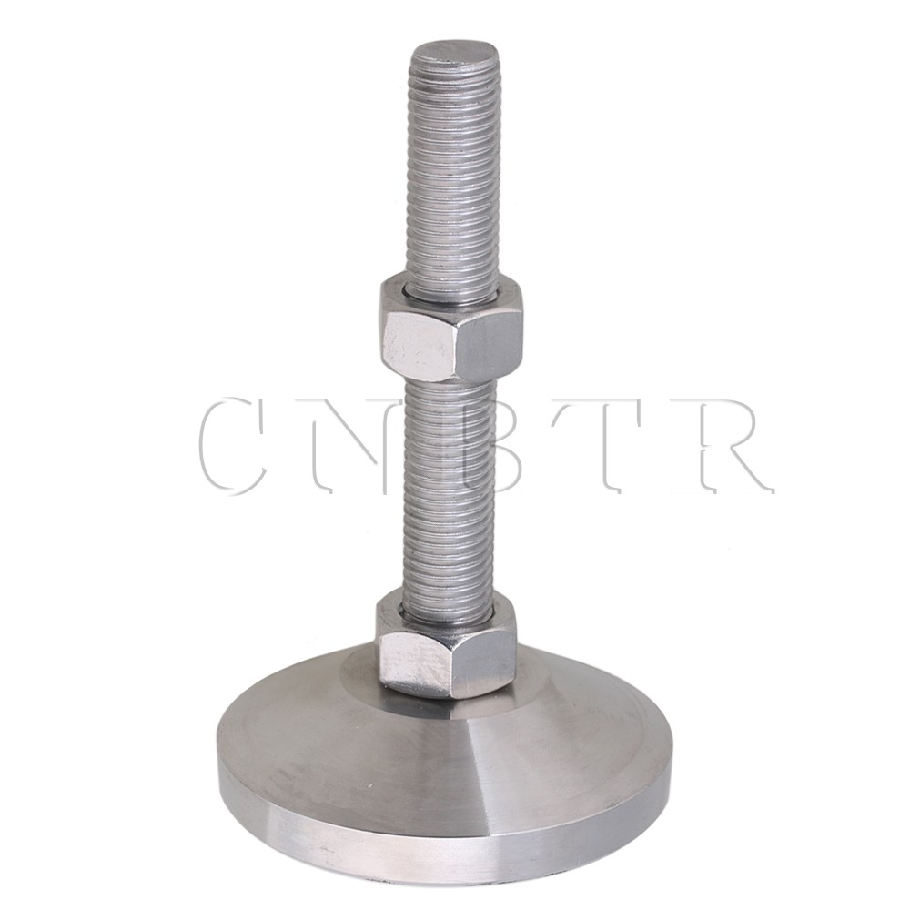 CNBTR 80mm Dia Stainless Steel Adjustable Joint Screw Table Feet M16 Thread ...