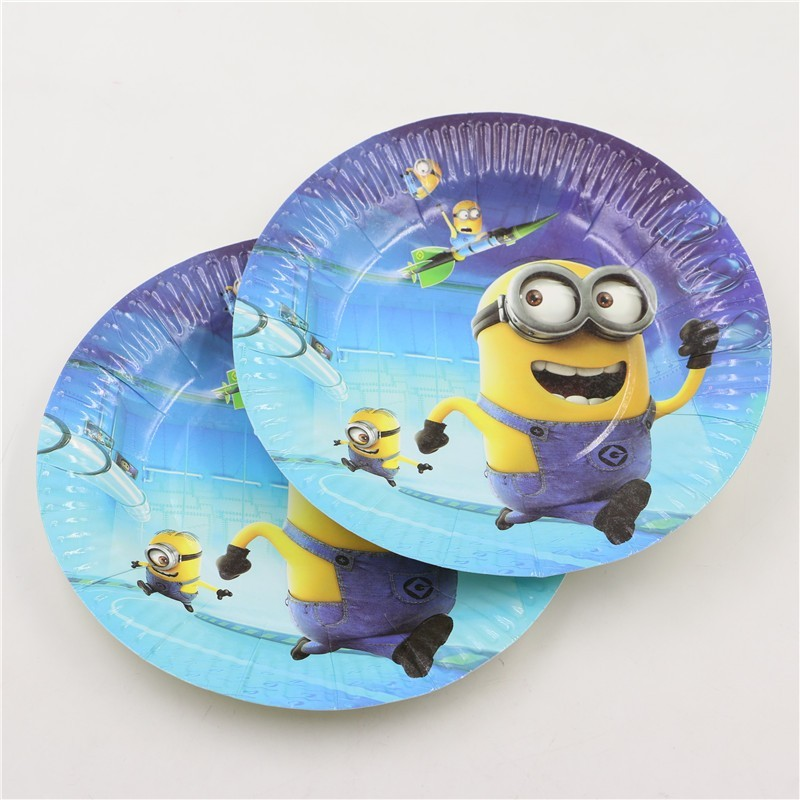 7Inch minions Theme Party Plates decoration minions party supplies for 10 kids birthday tableware party paper dishes -in Disposable Party Tableware from ... & 7Inch minions Theme Party Plates decoration minions party supplies ...