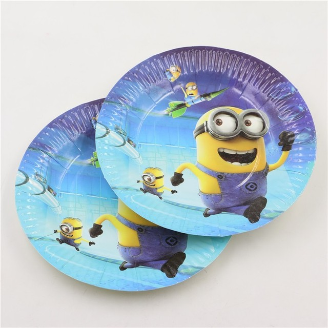 7Inch minions Theme Party Plates decoration minions party supplies for 10 kids birthday tableware party paper & 7Inch minions Theme Party Plates decoration minions party supplies ...