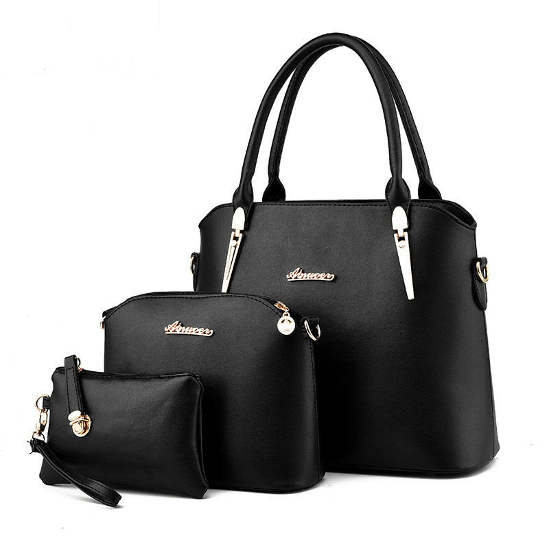 Women Leather Handbags Famous Designer Purses and Handbags 2016 High Quality Bags 3 Set Americal Europe