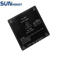 3D Printer Parts Black Heatbed MK3 Dual Power 12V 24V Heating Bed RepRap 3D Printer 214x214mm
