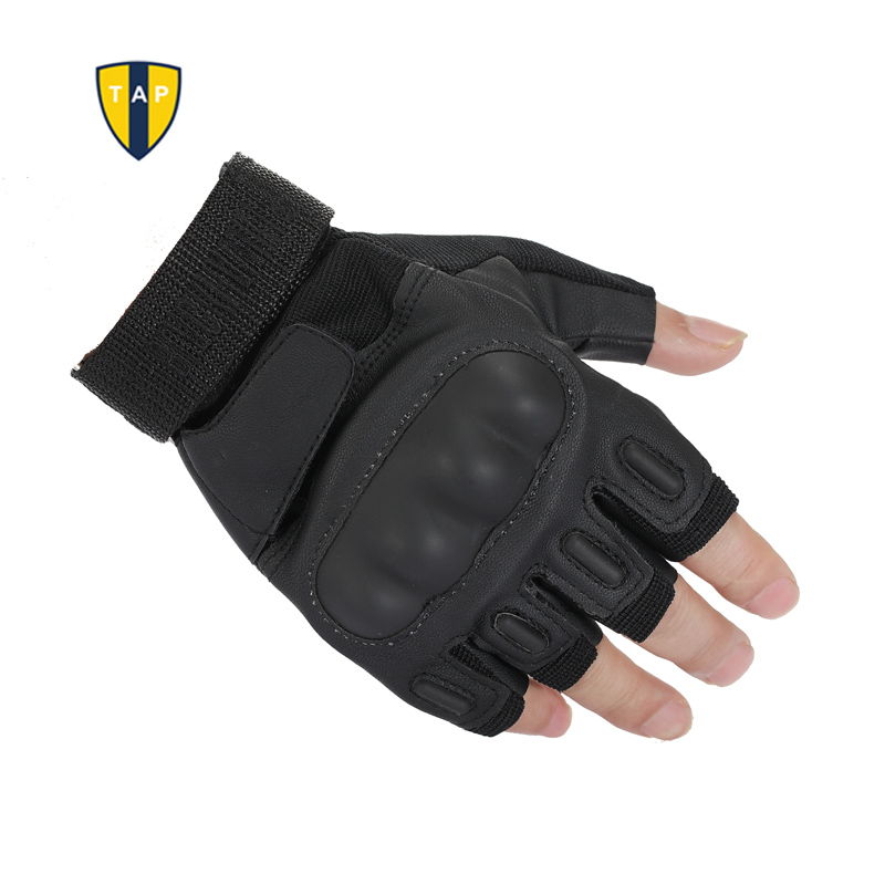 TAP Tactical Gloves For Men Military Outdoor Racing Motorcycle Airsoft Paintball Army Leather Mitten Fingerless Men Luvas Guante