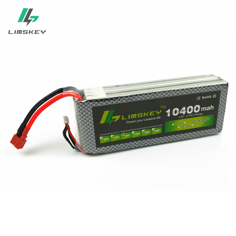 Original Ultra high Capacity Limskey Power 4S Lipo Battery 14.8V 10400MAH 30C RC Heilecopter Car Boat VS 4S 10000mah Battery