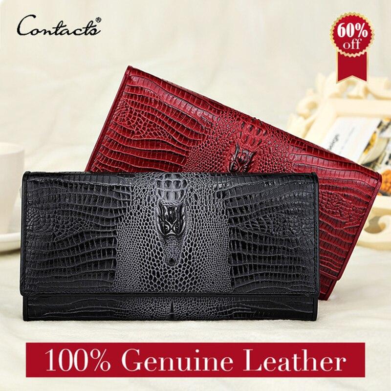 garantia genuína senhoras de couro Wallet Comprimento : Longo