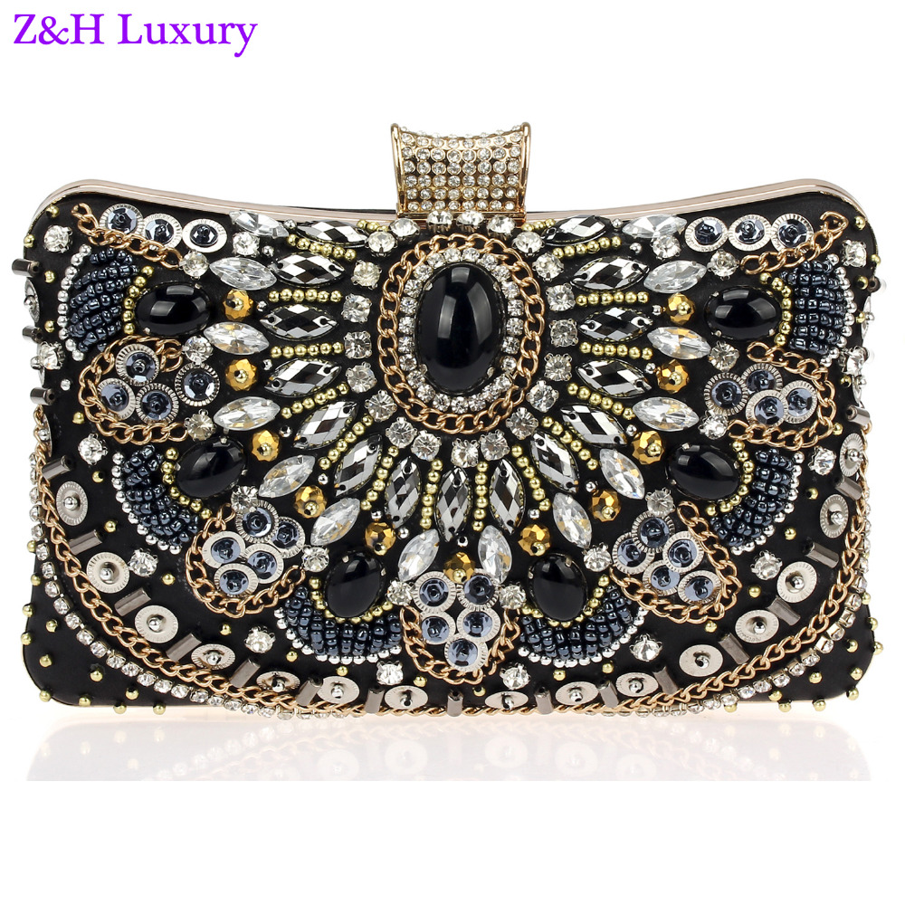 Latest Design Women Crystal Evening Clutches Bag Hand Made Muti ...