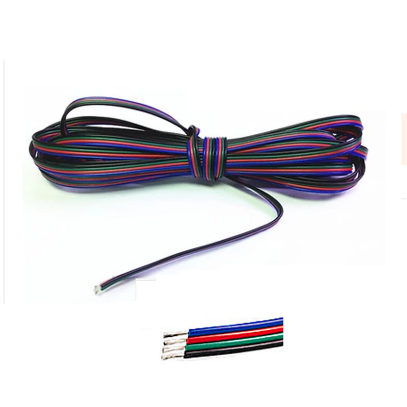 1m 2m 3m 4m 5m 10m 20m 50m 100m 4 Pin Channels cable for 5050 3528 RGB LED Strip Light  Module Extension Wire Cord zinuo 4pin channels led rgb cable wire 5m 10m 15m 20m 30m for 5050 3528 strip light extension extend wire cord connector