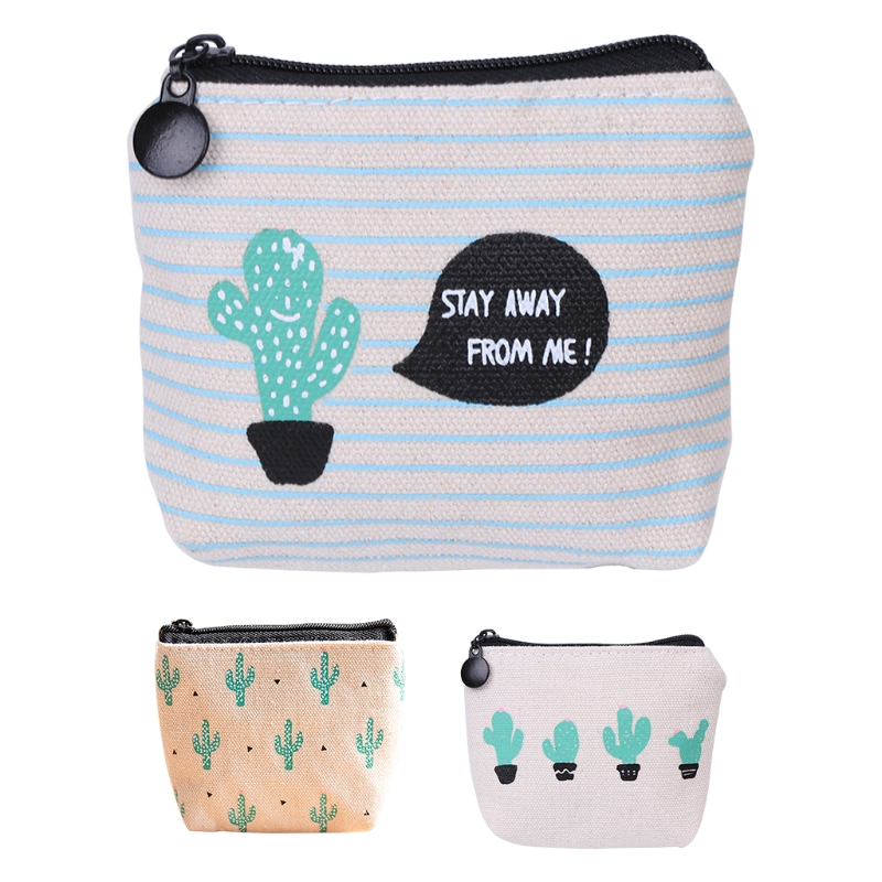 THINKTHENDO Canvas Cute Women Ladys Girl Coin Key Purse Small Purse Mini Bag Zip Wallet Holder Lovely New Handbags